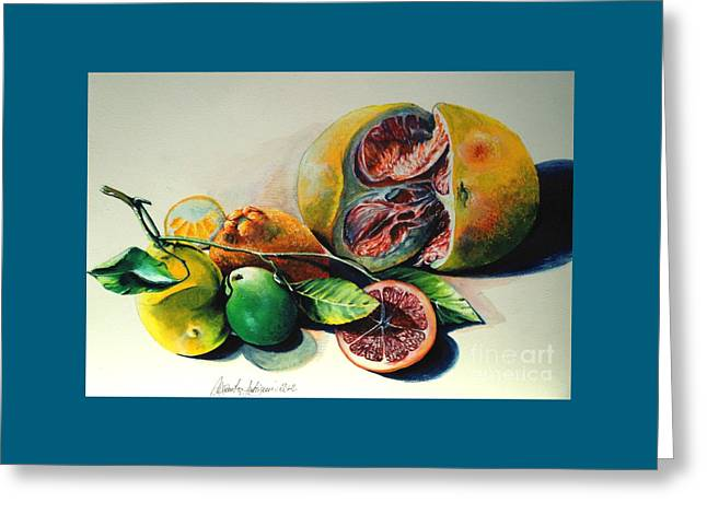 Still Life Of Citrus Greeting Card by Alessandra Andrisani