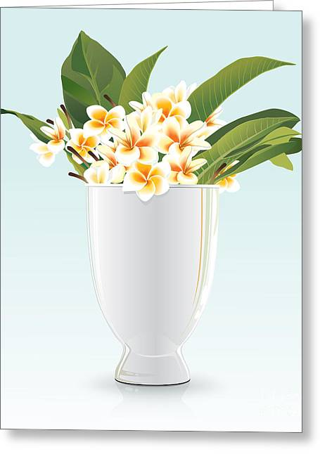 Interior Still Life Digital Greeting Cards - Still life of FRANGIPANI Greeting Card by Prakaisak Rojprasert