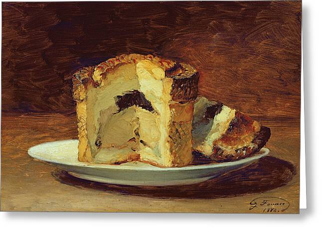 Slices Greeting Cards - Still Life Of Pie, 1884 Oil On Canvas Greeting Card by Guillaume Romain Fouace