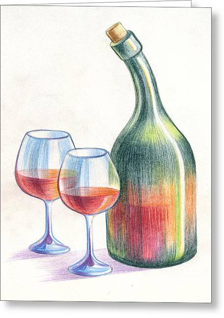 Meeting Pastels Greeting Cards - Still Life Greeting Card by Olga Zelenkova