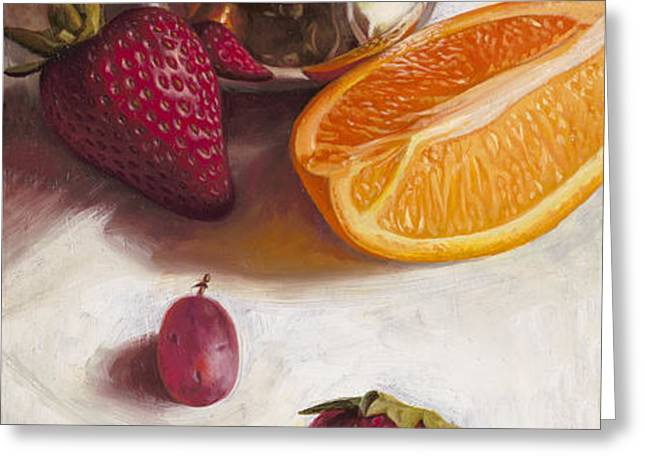 Still LIfe Reflections Greeting Card by Ron Crabb
