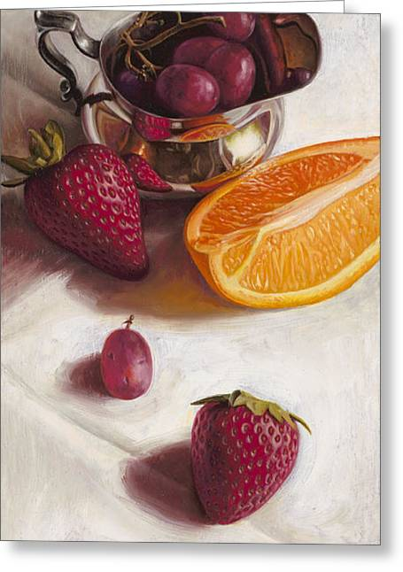 Fruit Still Life Greeting Cards - Still LIfe Reflections Greeting Card by Ron Crabb
