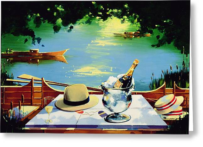 Fedora Greeting Cards - Still Life Regatta Greeting Card by Andrew Hewkin