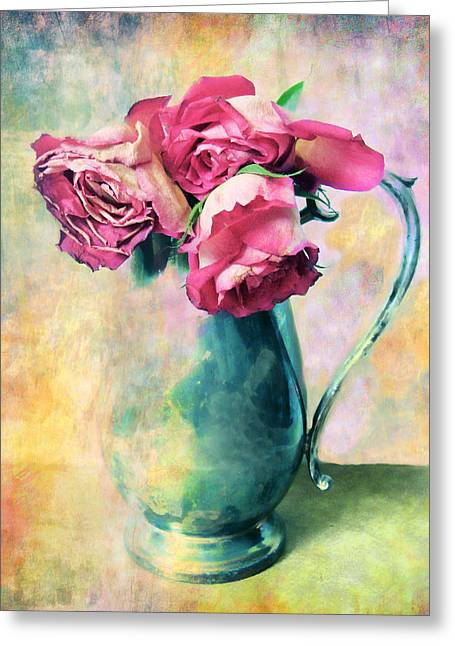 Flower Still Life Greeting Cards - Still Life Roses Greeting Card by Jessica Jenney