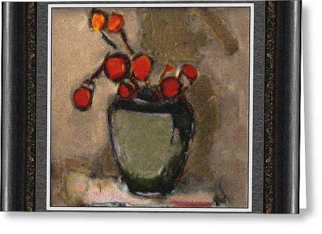 Floral Still Life Greeting Cards - Still life StL2 Greeting Card by Pemaro