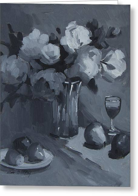 Monochromatic Study Greeting Cards - Still Life Study Greeting Card by Diane McClary