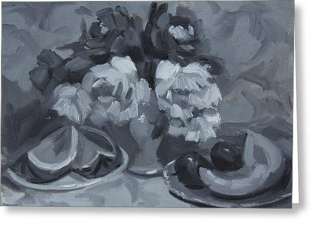Monochromatic Study Greeting Cards - Still Life Tonal Study Greeting Card by Diane McClary