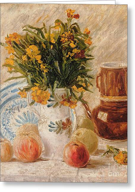 Beauty In Nature Paintings Greeting Cards - Still Life Greeting Card by Vincent van Gogh