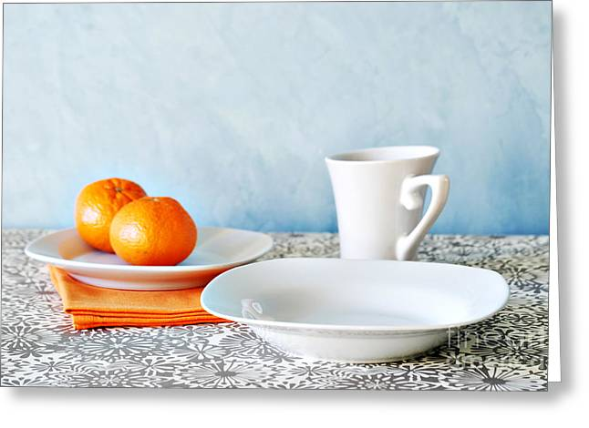 Blood Greeting Cards - Still Life With Blood Oranges Greeting Card by HD Connelly