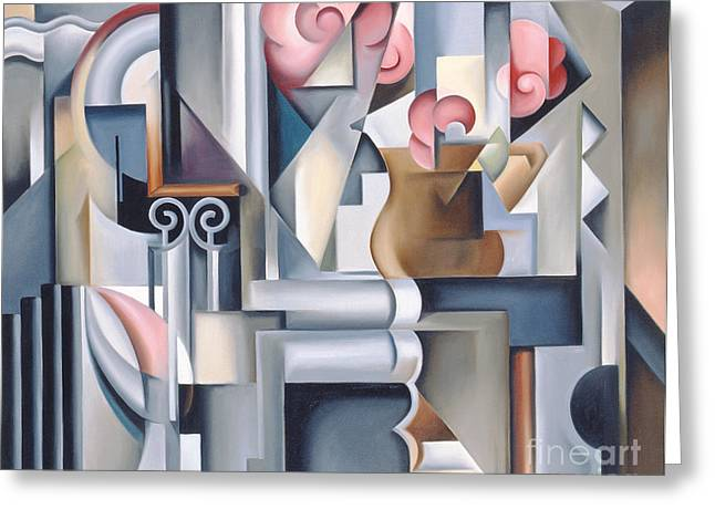 Catherine Abel Greeting Cards - Still Life with Brown Jug Greeting Card by Catherine Abel
