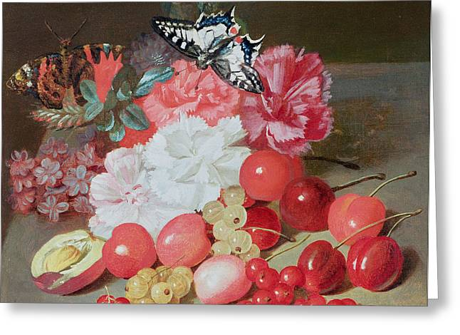 Boilly Greeting Cards - Still Life with Butterflies Greeting Card by Louis Leopold Boilly