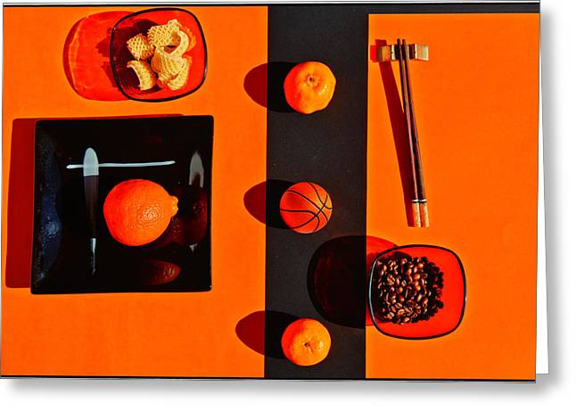 Tangerine Greeting Cards - Still life with citrus fruits Greeting Card by Andrei SKY