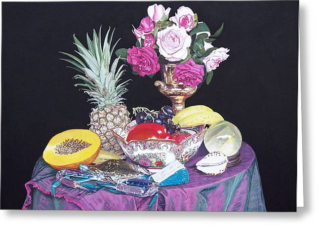 Photorealist Greeting Cards - Still life with crab Greeting Card by Bert Ernie