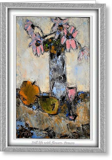 Floral Still Life Greeting Cards - Still life with flowers Greeting Card by Pemaro