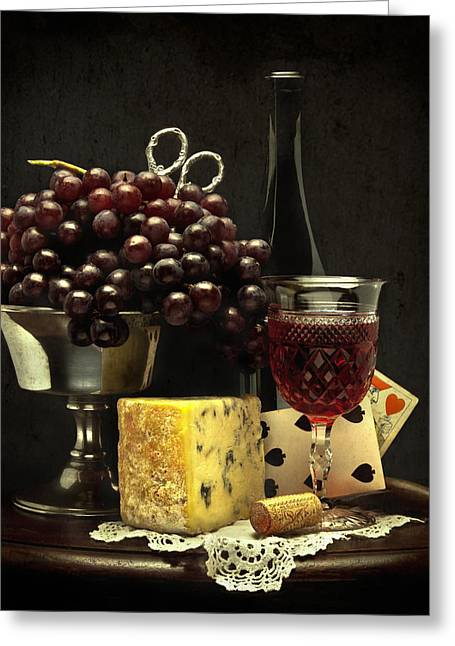 Fruit And Wine Greeting Cards - Still Life with Grapes Greeting Card by Jack Hardin