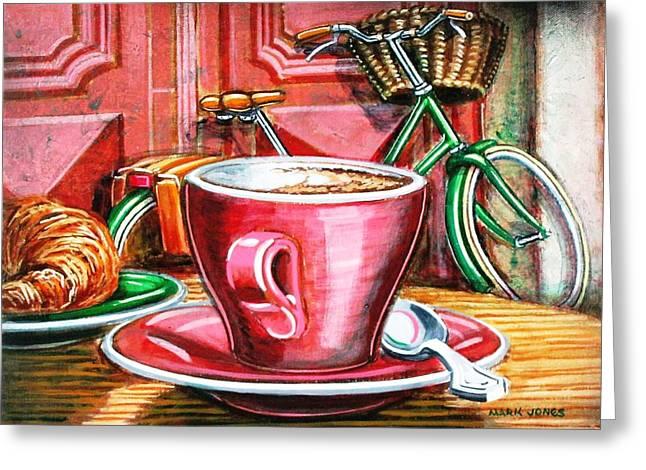 Still life with green Dutch bike Greeting Card by Mark Howard Jones
