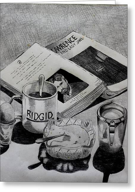 Still Life With Lawrence Greeting Card by John  Nolan