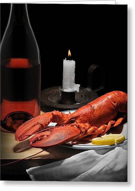 Still Life With Lobster Greeting Card by Krasimir Tolev
