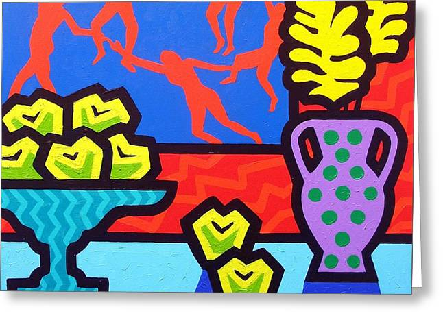 Flower Still Life Prints Greeting Cards - Still Life With Matisse Greeting Card by John  Nolan