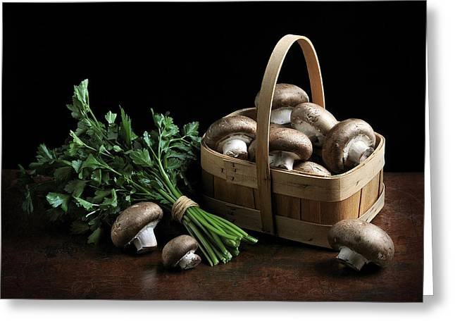 Old Western Photos Greeting Cards - Still Life with Mushrooms Greeting Card by Krasimir Tolev