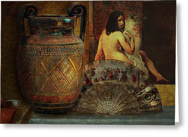 Hayez Greeting Cards - Still Life with Nude Greeting Card by Jeff Burgess