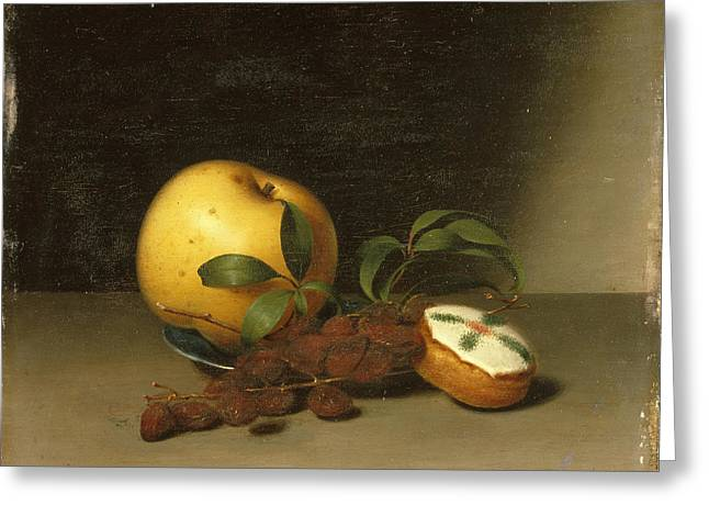 Peale Greeting Cards - Still Life with Cake  Greeting Card by Raphaelle Peale