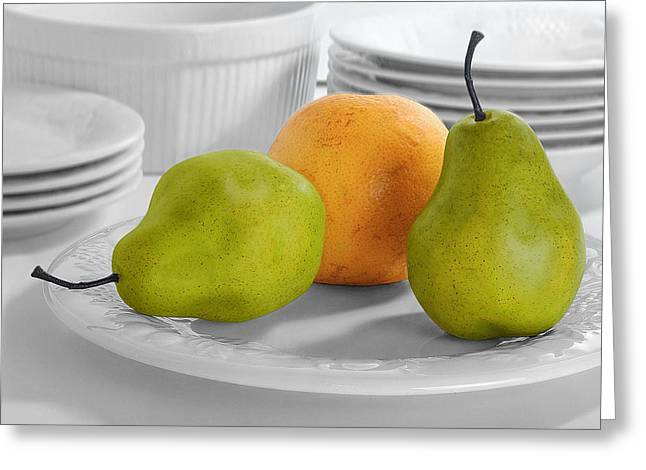 Krasimir Tolev Photography Greeting Cards - Still Life with Pears Greeting Card by Krasimir Tolev
