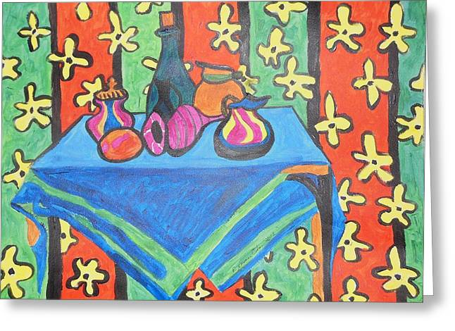 Still Life With Pitcher Greeting Cards - Still Life with Pitchers au Matisse Greeting Card by Esther Newman-Cohen