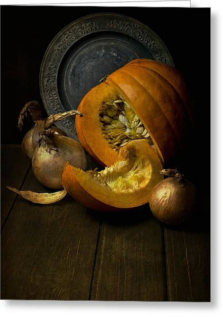 Lead The Life Greeting Cards - Still life with pumpkin Greeting Card by Jaroslaw Blaminsky
