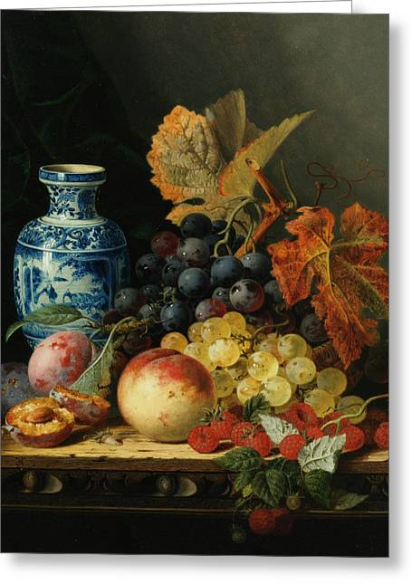 Pare Digital Art Greeting Cards - Still Life With Rasberries Greeting Card by Edward Ladell