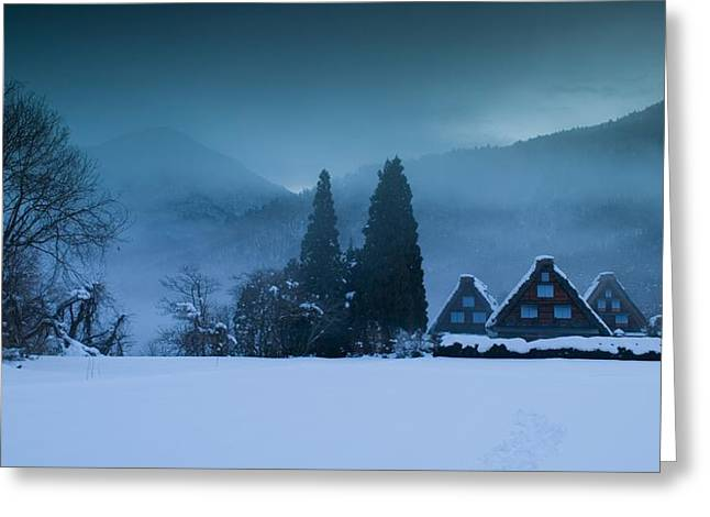 Snowy Evening Greeting Cards - Still of Evening Greeting Card by Aaron S Bedell