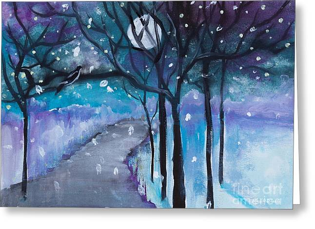 Still Of The Night Greeting Card by Michelle Wiarda