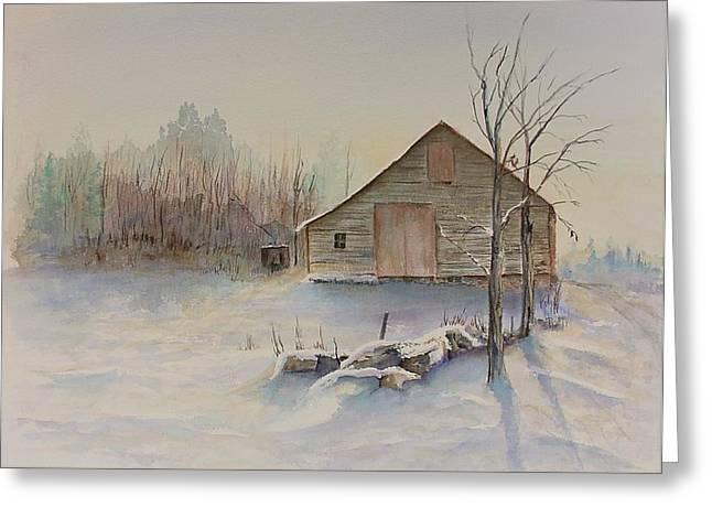 Still River Barn Greeting Card by Michael McGrath