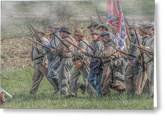 Army Of Northern Virgina Greeting Cards - Still Smell The Powder Greeting Card by Randy Steele
