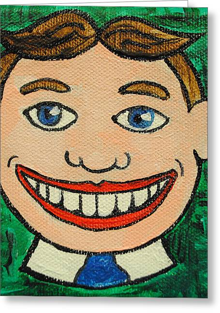 Asbury Park Paintings Greeting Cards - Still Smiling Greeting Card by Patricia Arroyo