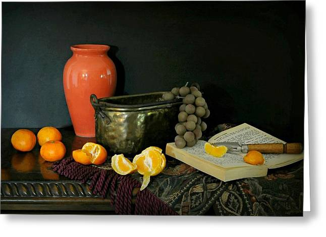 Table Cloth Greeting Cards - Still So Sweet Greeting Card by Diana Angstadt