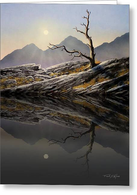 Still Standing Greeting Cards - Still Standing Reflections Greeting Card by Frank Wilson