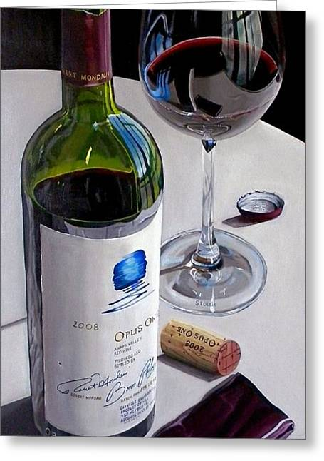 Recently Sold -  - Red Wine Prints Greeting Cards - Still The One Greeting Card by Brien Cole