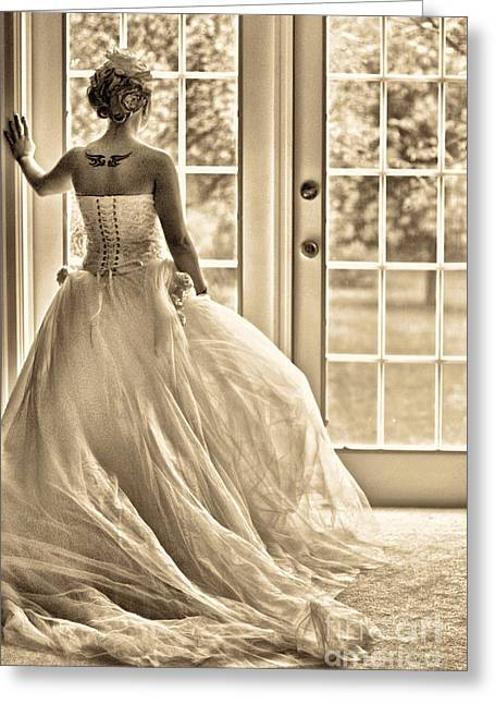 French Doors Greeting Cards - Still Waiting Greeting Card by Jill Hyland