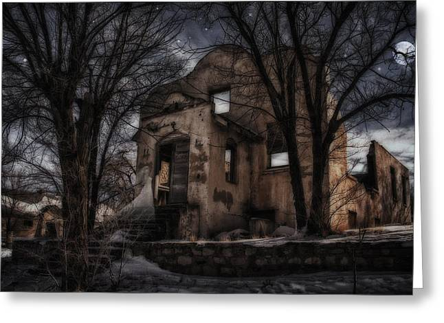 Altered Architecture Greeting Cards - Still Waiting Greeting Card by Priscilla Burgers
