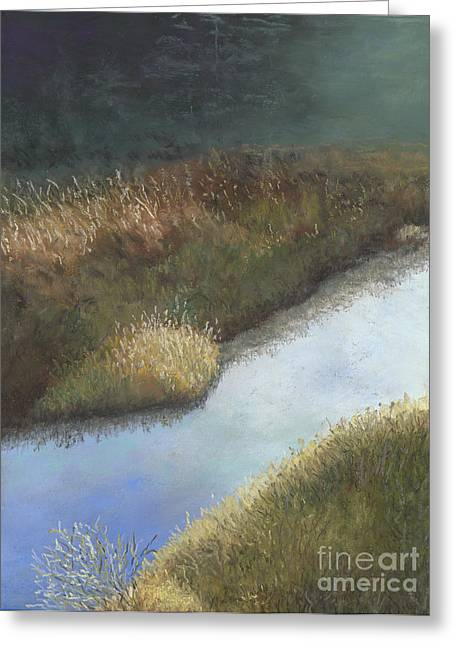 Brook Pastels Greeting Cards - Still Water Greeting Card by Ginny Neece