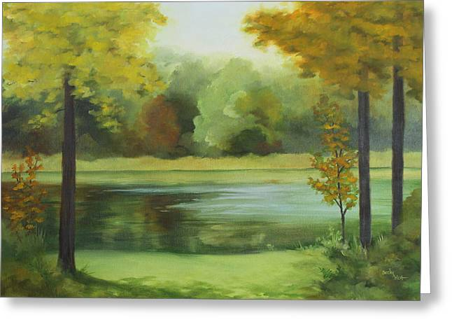 Becky Greeting Cards - Still Waters Greeting Card by Becky West