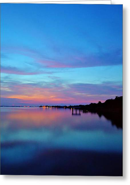 Seacape Greeting Cards - Still Waters Greeting Card by Carol R Montoya