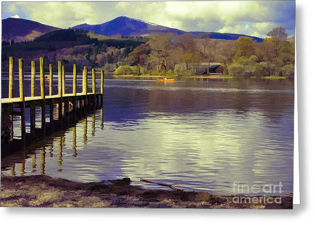 Jetty View Park Greeting Cards - Still waters run deep Greeting Card by Gillian Singleton