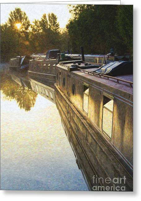 Northamptonshire Greeting Cards - Stillness and Light Greeting Card by Tim Gainey