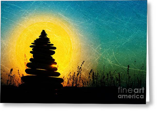 Zen Digital Art Greeting Cards - Stillness and Movement Greeting Card by Tim Gainey