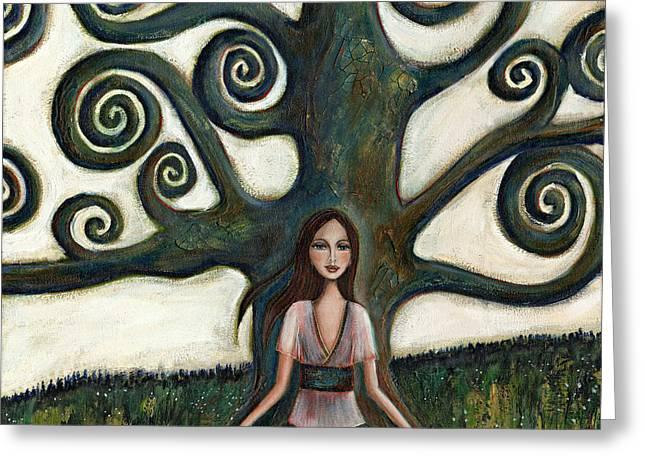Centering Greeting Cards - Stillness Greeting Card by Denise Daffara