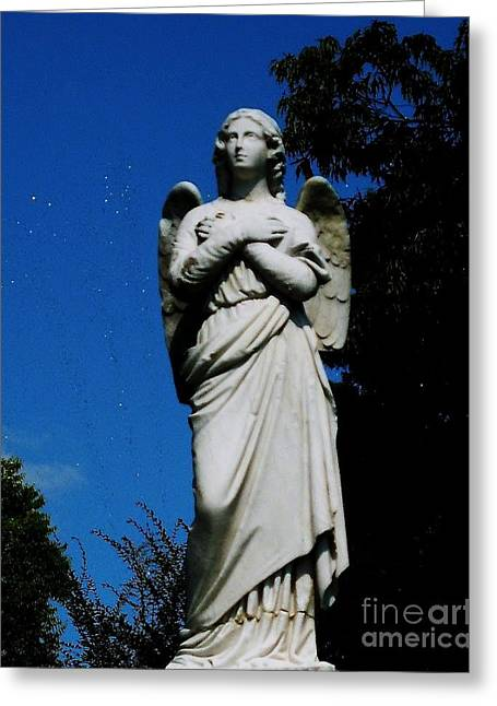 Night Angel Greeting Cards - Stillness Greeting Card by Katie  Neese