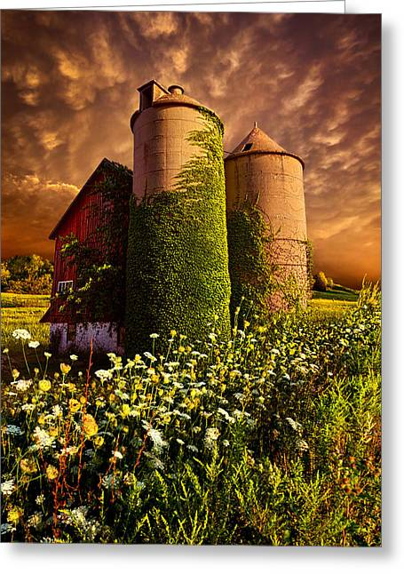 Silo Greeting Cards - Stillness Of Dawn Greeting Card by Phil Koch