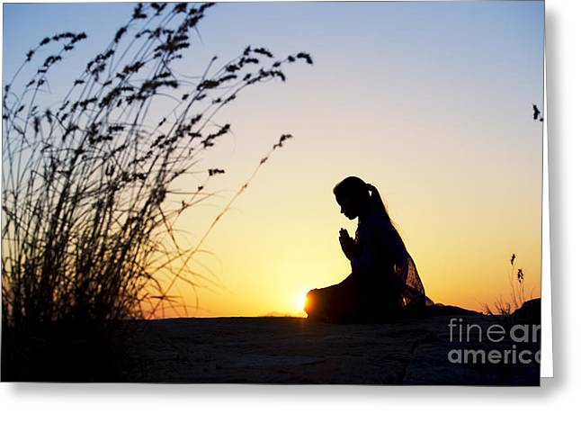 Abstract Expression Photographs Greeting Cards - Stillness of Prayer Greeting Card by Tim Gainey